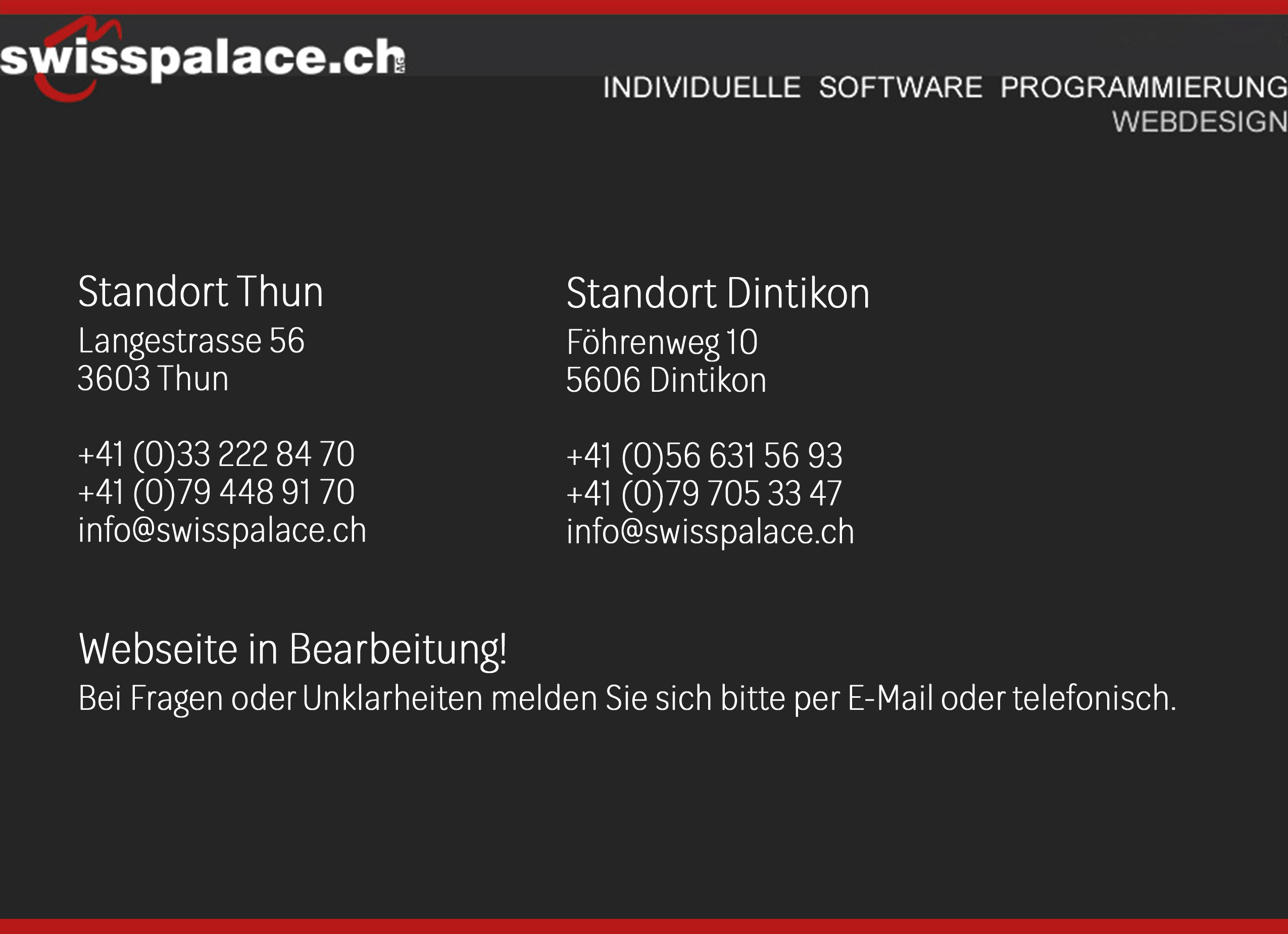 swisspalace.ch AG / 033 222 84 70